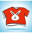 Red t-shirt vector image