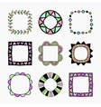 set of nine frames vector image