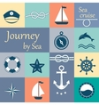 Travel and vacation symbols vector image