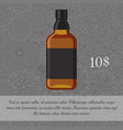 whiskey alcoholic beverage card template vector image