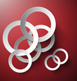 Circle Background Abstract Connected Paper Cut vector image