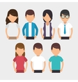 negotiation team work flat icons vector image