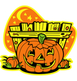 Pumpkin patch vector image