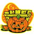 Pumpkin patch vector image vector image