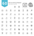 Set of Bold Stroke SEO and Development icons vector image