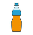 color image cartoon plastic bottle with juice vector image