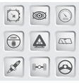 Car part and service icons set 7 vector image vector image