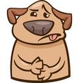 mood sick dog cartoon vector image
