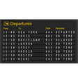mechanical departures board vector image vector image