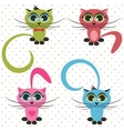 color cats vector image vector image