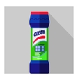 bottle with cleaning powder vector image