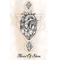 Heart of stone art vector image