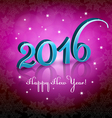 New Year 2016 Pink background vector image