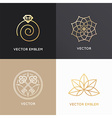 abstract badges and emblems in trendy linear style vector image vector image