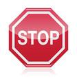 Stop warning road sign vector image