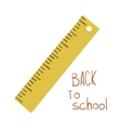 Cute funny flat cartoon school ruler icon vector image