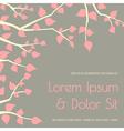 elegant wedding invitation design template vector image
