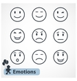 Faces emotions icons set vector image