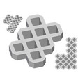 gray concrete pavers on a white background vector image