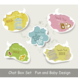 Idea Bulbs Baby Chat Bubbles vector image