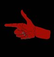 red hand index finger sticking out forward vector image