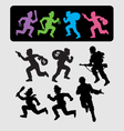 Running Silhouettes 2 vector image