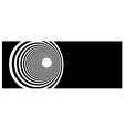tunnel vortex in concentric black and white stripe vector image