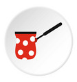 turk red with white polka dots icon flat style vector image
