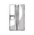 fridge appliance isolated icon vector image
