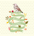 a bird hand made background vector image