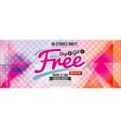 buy 2 get 1 free 6249x2502 pixel banner vector image