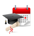 Education time icon vector image vector image