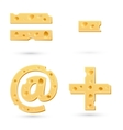 Set of cheese marks vector image vector image