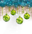 traditional decoration with fir branches and glass vector image vector image