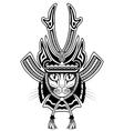 cat samurai vector image