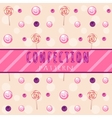 berry-candy pattern on a light background vector image