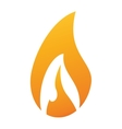 flame fire glowing temperature hot vector image