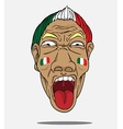 football fan from Italy vector image