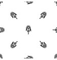 native american dreamcatcher pattern seamless vector image