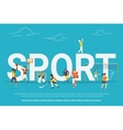 Sport concept vector image