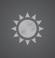 sun sketch logo doodle icon vector image