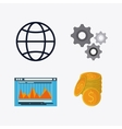 Business concept and strategy icon set vector image