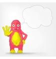 Funny Monster Stop vector image vector image