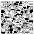 Hand drawn decor elements set vector image