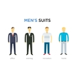 casual set characters for use in design vector image