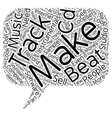 Make Your Own Beats Instrumentals Tracks and Demo vector image