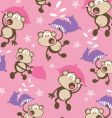 pillow fighting monkeys vector image vector image