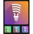Flat icon set bulb eco lamp vector image