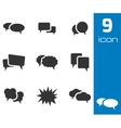 black speech bubble icons set vector image