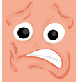 Cartoon comics face vector image